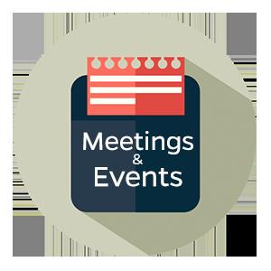 Searchable Events calendar
